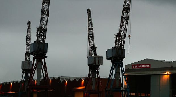BAE Systems on the River Clyde in Govan, Glasgow