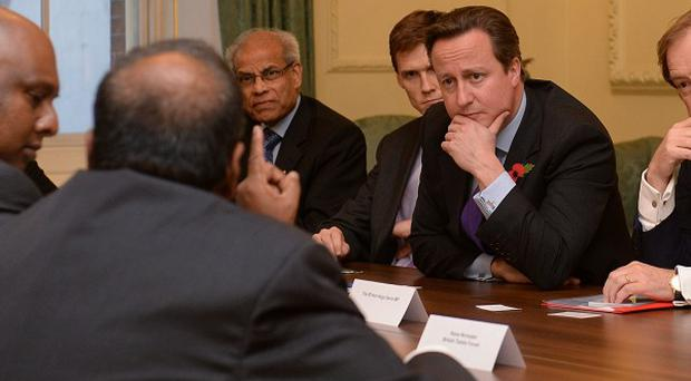 Prime Minister David Cameron met leaders of the Tamil community in Downing Street ahead of his visit to Sri Lanka for the Commonwealth Heads of Government meeting
