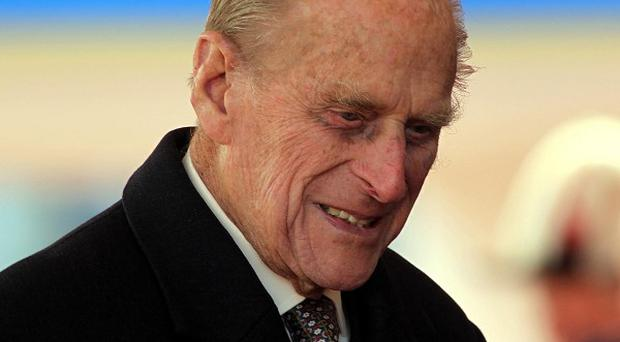 The Duke of Edinburgh is honouring fallen troops in Belgium