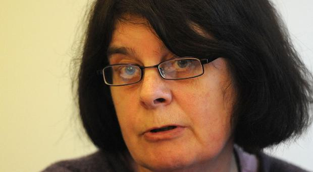 Iain Roger's mother Sue Turner speaks to media following the arrest of her son