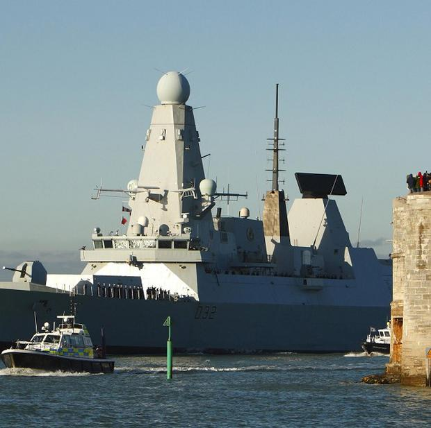 HMS Daring, which is to be deployed to the Philippines to help the millions of people affected by the devastating typhoon