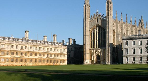 About two-fifths of students attending Cambridge University went to private school