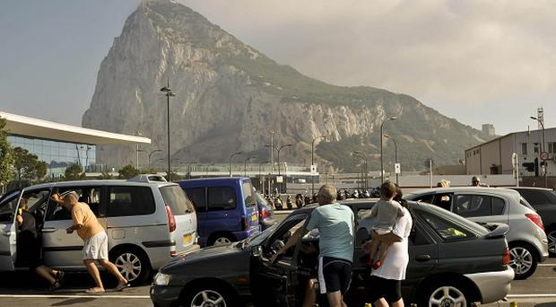 Spain stepped up checks on the border crossing into Gibraltar