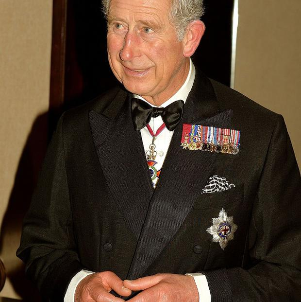 The Prince of Wales at the Commonwealth Heads of Government Meeting dinner.