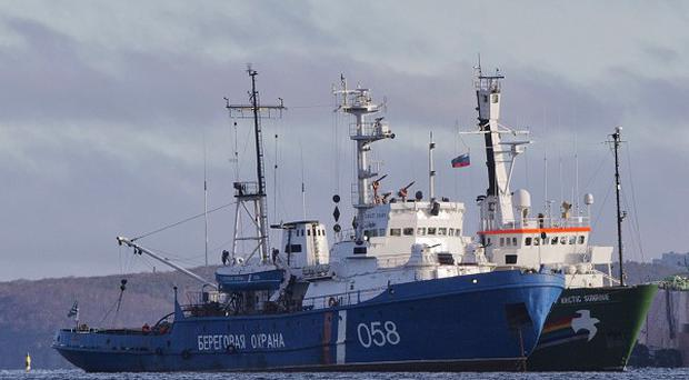 The Greenpeace ship Arctic Sunrise was halted by the Russian coastguard