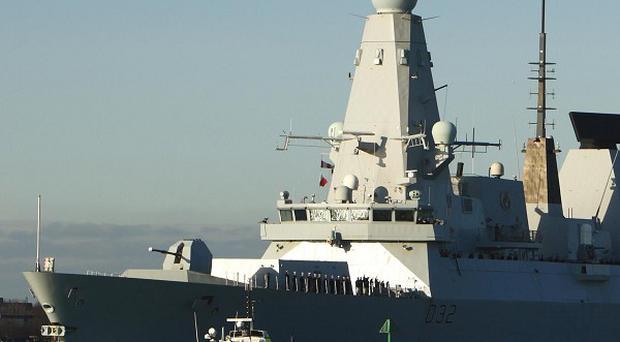 HMS Daring has been deployed to the Philippines