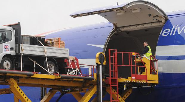 A plane loaded with aid has departed the UK as part of the response to Typhoon Haiyan