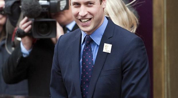 The Duke of Cambridge during a visit to Bafta in central London where he launched the Give Something Back appeal