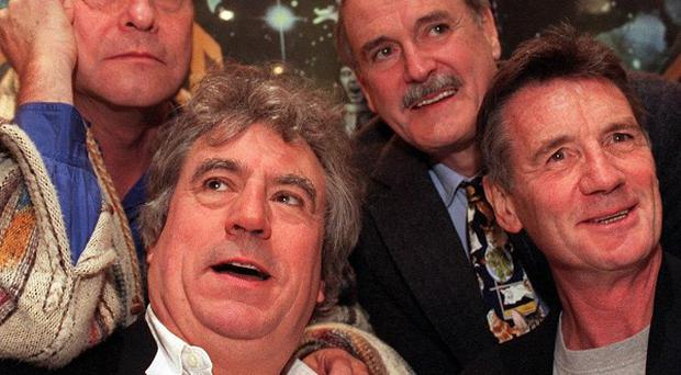 Four of the Pythons - Terry Gilliam, Terry Jones, John Cleese and Michael Palin