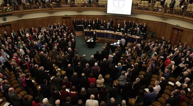 An assembly is expected to approve measures that will pave the way for the introduction of women bishops in the Church of England.