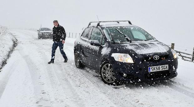 Motorists are being warned that snow and rain overnight may turn to ice on roads as clear conditions bring freezing temperatures