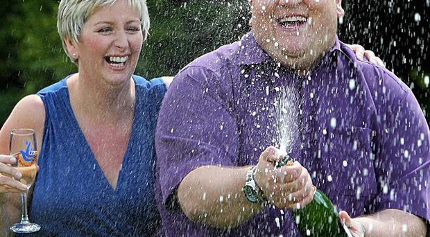 Lottery winners Adrian and Gillian Bayford, from Haverhill, Suffolk, are divorcing