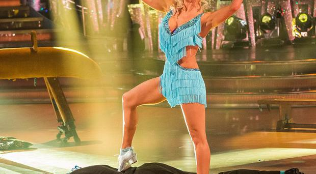 Ben Cohen and Kristina Rihanoff performing during rehearsals for Strictly Come Dancing. (BBC)