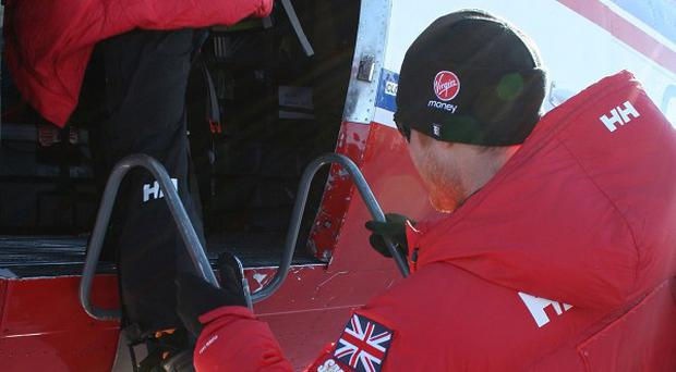 Prince Harry and the Walking With The Wounded teams leaving Novo, Antarctica, for their second base camp.