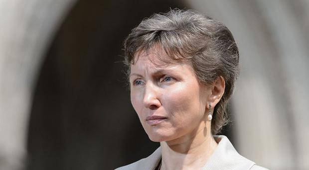 Marina Litvinenko, the widow of Alexander Litvinenko.
