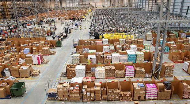 The Amazon fulfilment centre in Peterborough Cambridgeshire as it prepares for Cyber Monday