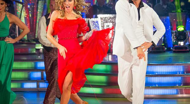Abbey Clancy and Aljaz Skorjanec were given the first perfect score of the series on Strictly Come Dancing.