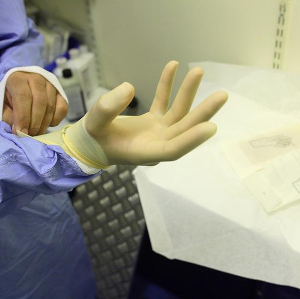 A surgical glove was left inside a patient at the Royal Derby Hospital after an operation