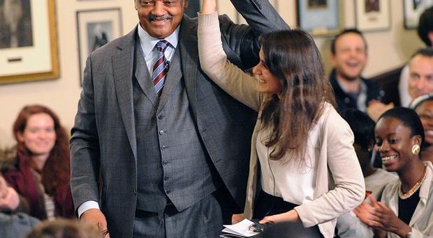 The Rev Jesse Jackson speaks to Cambridge students. (Cambridge Union Society)