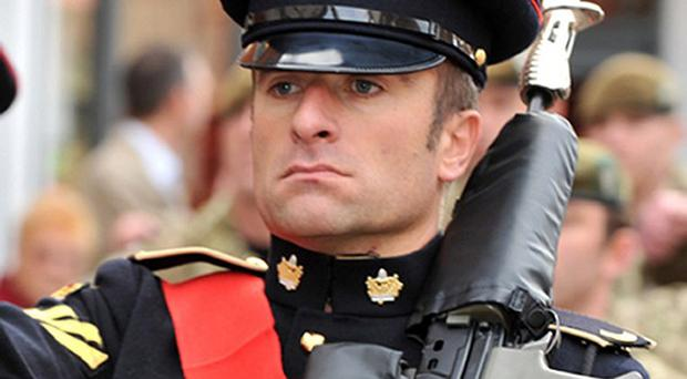 Warrant Officer Class 2 (WO2) Ian Fisher from the 3rd Battalion The Mercian Regiment (Staffords) was killed in a suicide blast on patrol in the Kamparak area of Helmand province, Afghanistan. (MoD)