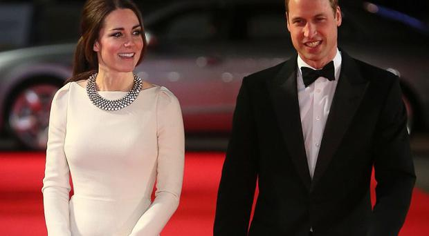The Duke and Duchess of Cambridge arriving for the Royal Film Performance of Mandela: Long Walk To Freedom, at the Odeon Leicester Square, London.