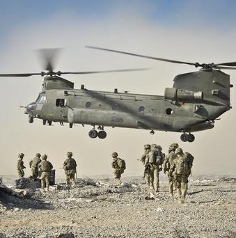 An RAF Chinook made a forced landing near Jericho.
