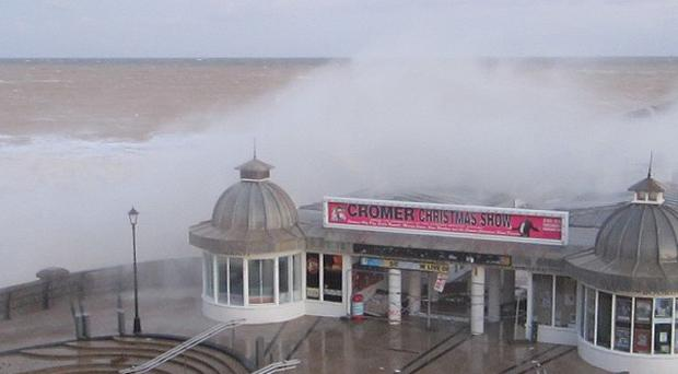 The Norfolk Coast, including Cromer pier, took a battering from the sea last week.
