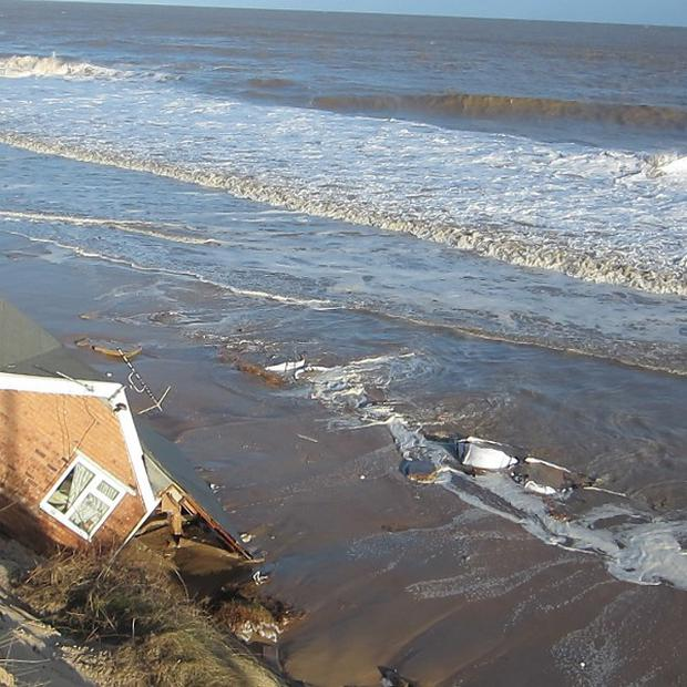A family made homeless by last Thursday's tidal surge has spoken of the