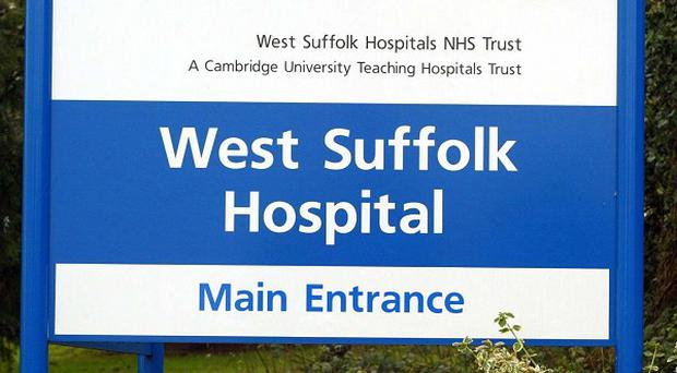 A patient died after being attacked at West Suffolk Hospital in Bury St Edmunds.