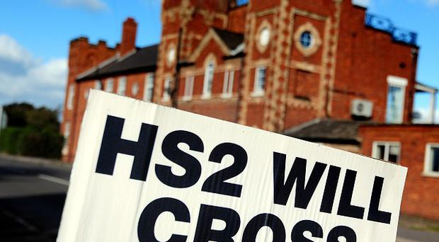 Opponents of the HS2 project have accused the Government of trying to suppress a report critical of the project.
