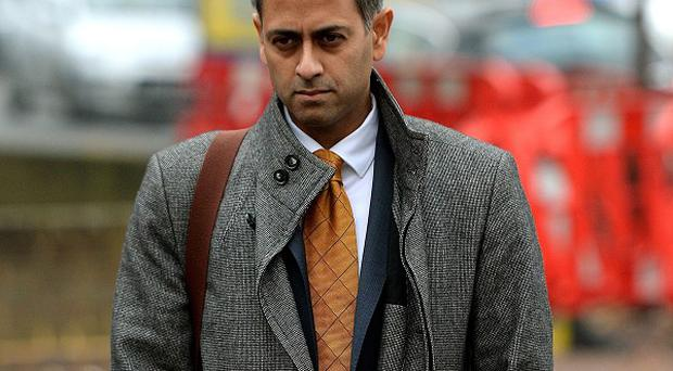 Charles Saatchi's accountant Rahul Gajjar arrives at Isleworth Crown Court in London, to give evidence in the trial of sisters Elisabetta 'Lisa' and Francesca Grillo, the former personal assistants to Mr Saatchi and Nigella Lawson.