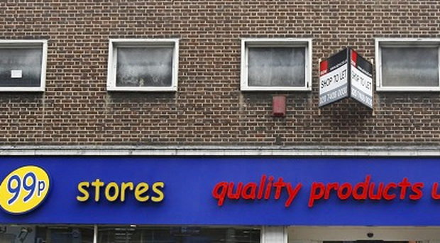 Police were called to deal with angry shoppers after a 99p store stopped its 50p sale early