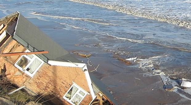 Belongings rescued from homes hit by the tidal surge at Hemsby, Norfolk, have been stolen