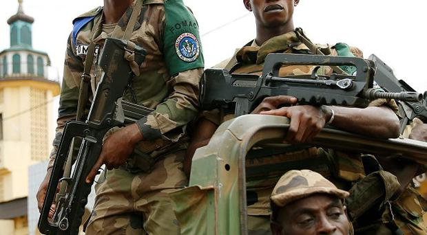 The RAF has delivered military equipment to French forces in the Central African Republic