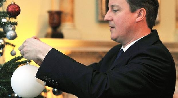 David Cameron has put 'a bit of peace and quiet' at the top of his Christmas list.