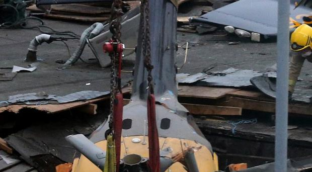 The Eurocopter aircraft crashed into the roof of the Clutha pub in Glasgow