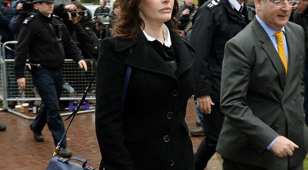 TV cook Nigella Lawson arriving at Isleworth Crown Court in west London to give evidence in the case two of her former personal assistants, Elisabetta and Francesca Grillo, who are accused of committed fraud by abusing their positions as PAs by using a company credit card for personal gain.