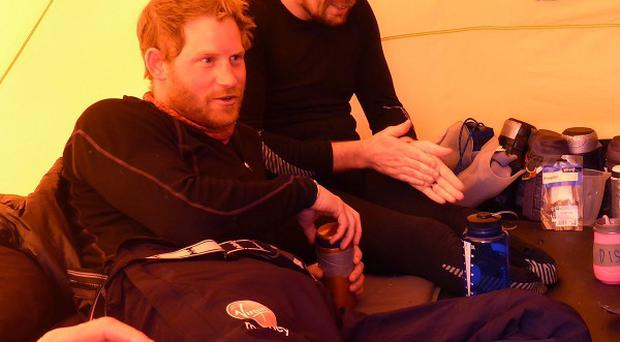 Prince Harry and colleagues on the Walking with the Wounded challenge