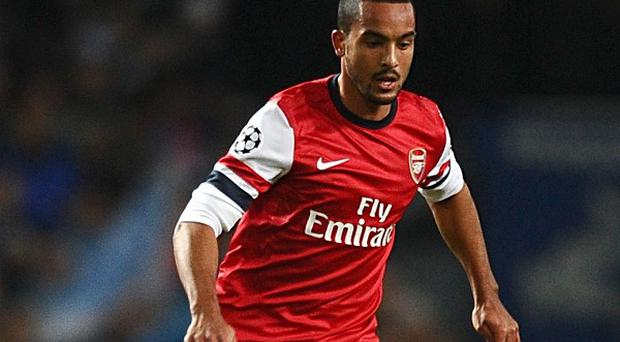 Arsenal striker Theo Walcott and his wife Mel are