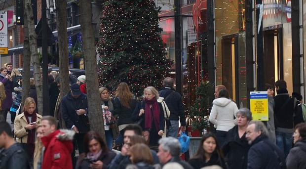 Christmas shoppers have been out in force across the UK