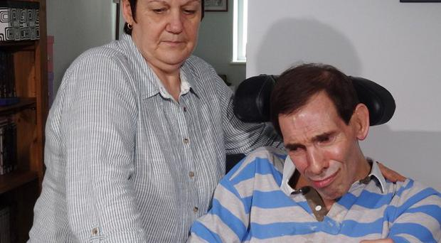 Locked-in syndrome sufferer Tony Nicklinson pictured with his wife Jane, who is carrying on his