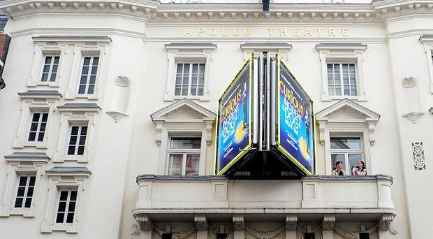 The Apollo Theatre in London's West End where a balcony is reported to have collapsed