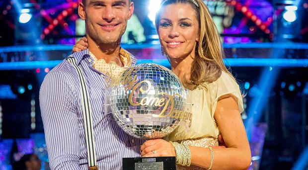 Strictly come Dancing winner Abbey Clancy with her dance partner Aljaz Skorjanec. (BBC)