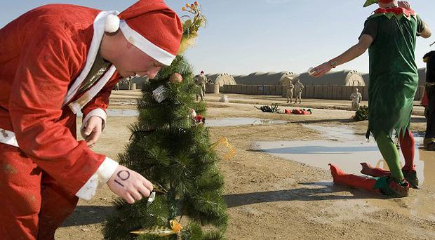 British troops in Afghanistan will mark Christmas with a series of events