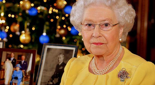 Queen Elizabeth II after recording her Christmas Day broadcast at Buckingham Palace.
