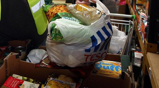 A charity says the number of people using food banks this Christmas has tripled compared to last year.