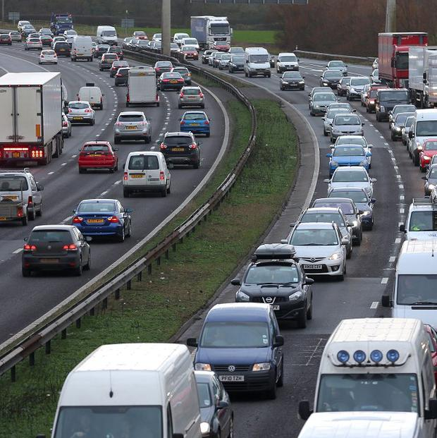 A motorist was rescued by firefighters after a crash on the M11 in Essex.