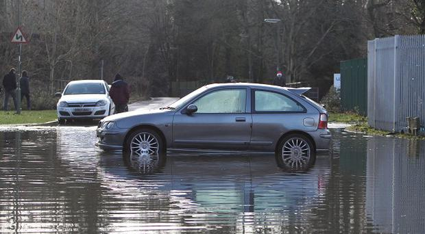 A number of major road routes were affected by flooding or by fallen trees