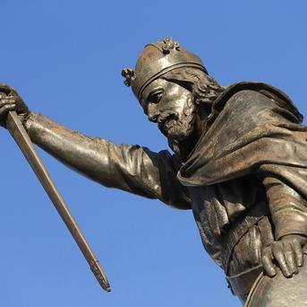 The bones of King Alfred the Great are not buried in an unmarked grave as previously thought