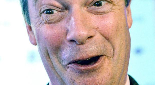 Ukip leader Nigel Farage has accused the media of only being interested in controversial comments by a councillor since he defected from the Tories